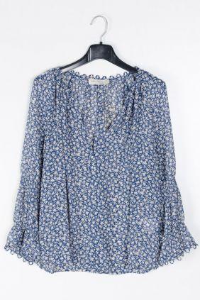 Comprar online Blusa gasa estampada See u soon Azul Mujer