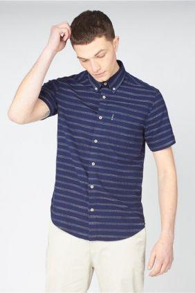 Comprar online Camisa Ben Sherman Rayas en Azul para Hombre 1