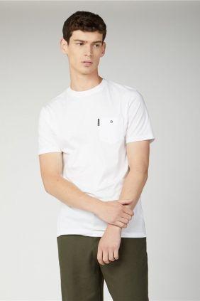 Comprar online Camiseta Ben Sherman Chest Pocket Blanca