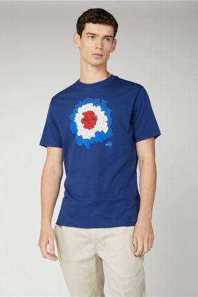 Camiseta Plectrum Target de marca Ben Sherman Azul Hombre