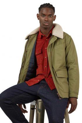 comprar online Cazadora Workers Ben Sherman Verde Hombre