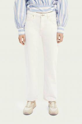 Comprar online Pantalon Maison Scotch Mujer tailores straight fit en Blanco