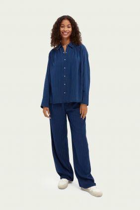 Comprar online Pantalon Maison Scotch marino Tencel de Mujer