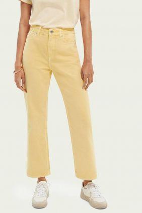 Comprar online Pantalón Pastel Dye Maison Scotch Mujer Amarillo
