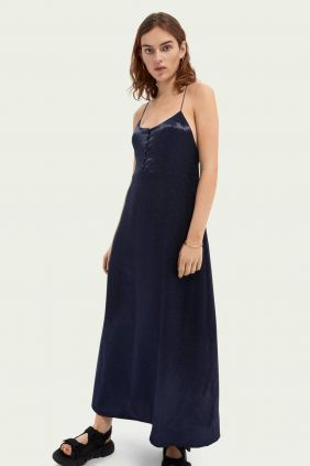 Comprar online Vestido Lecero Maison Scotch en Azul Oscuro