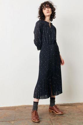 Comprar online Vestido Sessùn Painterly plisado en crepon