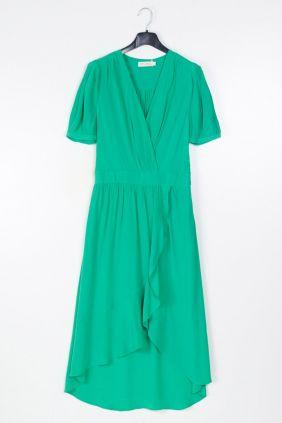Comprar online Vestido verde semicruzado See u Soon
