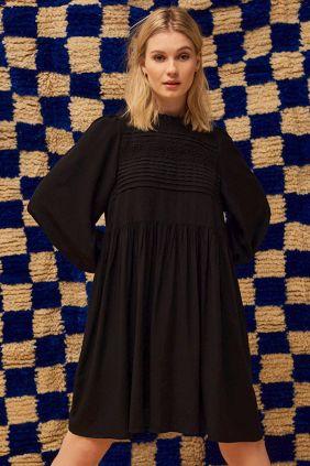 Comprar vestido Mbym Eudora en negro con detalle bordados